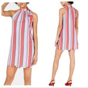 Maison Jules Striped Sleeveless Casual Dress